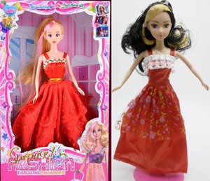 Wholesale 2 Styles Christmas Gifts For Children Girls Doll with Handmade Princess Red Dress quot American Girl Dolls