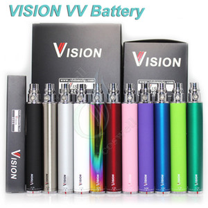 Wholesale spinner battery e cigs for sale - Group buy Vision Spinner electronic cigarette ego c twist V Variable Voltage VV battery mAh e cigs ego Cartridges atomizers