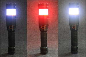 Hot Sale Super Bright 1000 Lumen XML T6 Railway Rescue Command Outdoor Flashlight Red Blue White Colour Signal Lamp