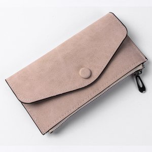 Wholesale Women Scrub Purse Soft Handbags Card Holder Retro Lady Long Wallet Fashion Bags Thin Wallet vintage style