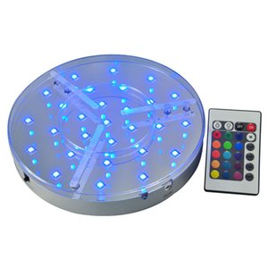 Wholesale Rechargeable RGB Multicolors LED Light Base Remote Controlled IR Under Vase Table Cloth Lighting For Wedding Party Decoration