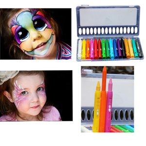 Face Painting Pencil 16 Colors Christmas Body Drawing Coloring Pen For Dance Party Make-up Educational Toys on Sale