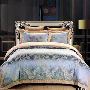 Wholesale floral king pillowcases resale online - Top quality new style Floral Silk cotton bedding set queen king size Home textile bed sheet duvet cover pillowcase set