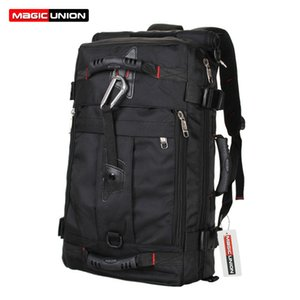 Wholesale- MAGIC UNION Brand Design Men's Travel Bags Fashion Men Backpacks Men's Multi-purpose Travel Backpack Multifunction Shoulder Bag