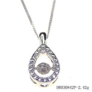 Man Fashion jewelry 925 Sterling Silver Jewelry Shaking Pendant Rhodium Plated Engagement gift DR030842P-R Free Shipping