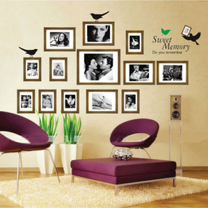 Wholesale living room Sofa background bedroom Removable Photo Wall Frame Wall Stickers Sweet memories