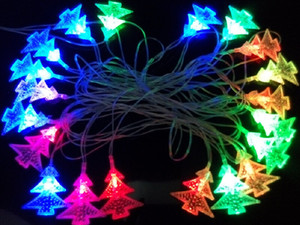 Xmas 4m 20LED Changeable Christmas Tree String LED Fairy Lamp Light AC 110V 220V for Ideal Wedding Party Holiday Decoration CE ROSH DHL UPS