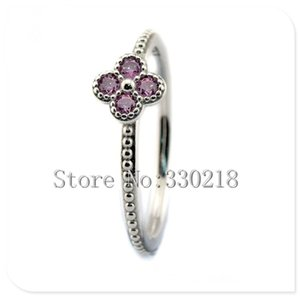 Wholesale 2016 Summer Style Oriental Blossom Silver Rings2016 Summer Style Oriental Blossom Silver Rings with Pink CZ Sterling Silver Jewelry