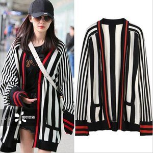 Wholesale 2017 Celebrity Style Cardigan Long Sleeve Crew Neck Autumn Winter Brand Same Style Cardigan Fashion Women Clothes TY