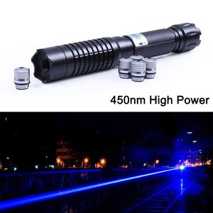 high power THOR M focusable blue laser pointers 450nm powerful Lazer+5 star caps Free Shipping
