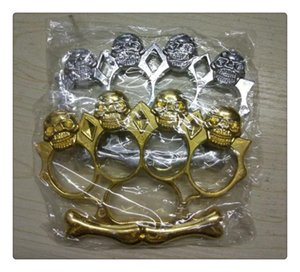 Wholesale HOT NEW USA death squads STEEL BRASS STEEL GHOST BRASS KNUCKLE DUSTERS Black Gold Silver