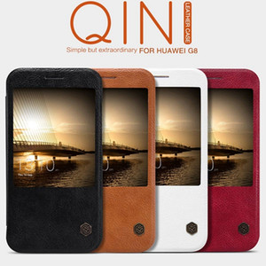 Wholesale Original Nillkin Ultra Thin Qin PU Leather Flip phone Case cover with retail package for Huawei Ascend P8 Ascend G8 MATE S P9 lite honor
