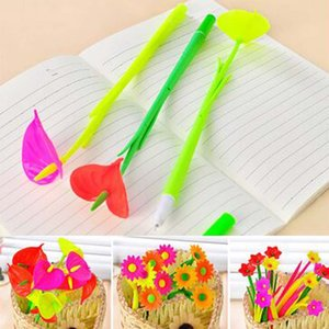 12pcs lot Flower Gel Pens Christmas Kid Gift Prize Exhibition Business Hospital Decoration Writing Pen Stationery Material Escolar