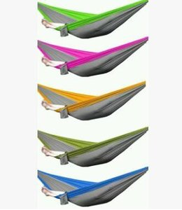 Free Shipping Outdoor or Indoor Parachute Cloth Sleeping Hammock Camping Hammock high quality multicolor on Sale