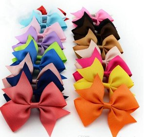 Wholesale high quality grosgrain ribbon bows for hair hair bows children hair accessories baby hairbows girl hair bows WITH CLIP spring