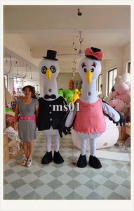 Wholesale 2016 Professional Customized Egrets men and women Mascot Costume Costume Outfit Cartoon Clothing Animal Fancy Dress Christmas Halloween