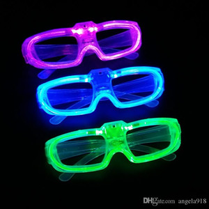 Wholesale Halloween New Led Cold Light Glasses EL Wire Glowing Flash Fluorescence Party Glasses DJ Party Props E1325