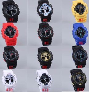 Wholesale 5pcs relogio men s sports watches LED chronograph wristwatch military watch digital watch good gift for men boy dropship