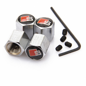 Car Styling 4PCS Anti-theft Sline S Line Car Wheel Tire Valves Caps Stem Air Covers For Audi S3 S4 S5 S6 S8 A1 A3 A4 A5 A6 A7 TT RS4