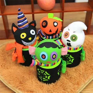 Wholesale Halloween Decorations Candy Jar Gift Bags Pumpkin Bags Halloween Sacks Gift For Kids Event Party Supplies LZ0311