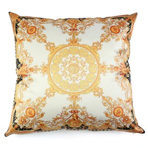 Luxury Silk Material Scatter Cushion Covers Pillowcase Cojin Home Decorative 18 Inches Soft Square Pillow Cases for Seat Car Sofa on Sale