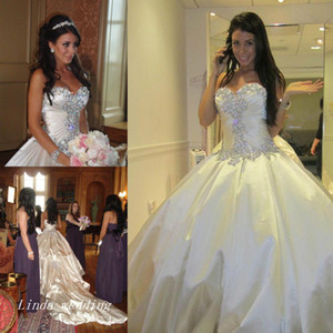 Pnina Tornai Wedding Dresses Romantic Ball Gown Sparkly Crystal Beaded Long Dream Princess Church Bridal Party Gowns