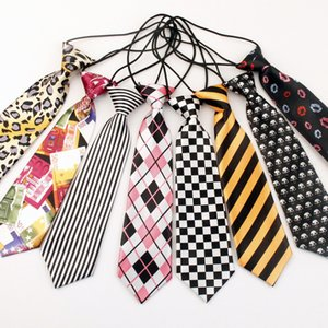 Wholesale rubber neck for sale - Group buy HOT Children s necktie kid neck tie100 colors baby s ties cm neckwear rubber band neckcloth For kids Christmas gift