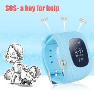 Wholesale Smart Watch Kid Wristwatch Q50 SOS GSM GPRS GPS Locator Tracker Anti Lost Smartwatch Child Guard for iOS Android