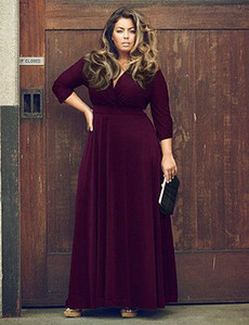 Wholesale Sexy V Neck Women Long Dress Plus Size XXL XXXL XL Female Maxi Dress Autumn Winter Party Long Vestidos Large Big Size Clothing