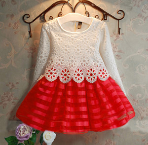 Toddler Clothes Baby Girl Dresses Kids Tutu Crochet Lace Dress Long Sleeve Princess Dress Girls Clothing Autumn Children Dress for Girl 3-8Y