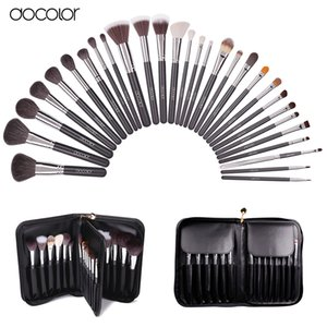 Wholesale nature makeup resale online - Docolor Make Up Brushes Profeesional Makeup Brush Set with Case Top Nature Bristle and Synthetic Hair Makeup Brushes Set