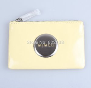 MIMCO HYDRANGEA SMALL POUCH LIGHT YELLOW SMALL POUCH WHITE MAT BLK XO SMALL POUCH