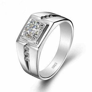Wholesale 100 silver Top to simulate a diamond ring infinity Ring Men ring Wedding Ring