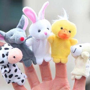 Wholesale New Baby Plush Toy Hand Finger Puppets Talking Props Helpers Animal Group Play Game For Kids Mini Animal Baby Finger Gifts