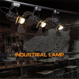 Arts Lamp Track Light Retro Space Modern Minimalist American Country Industrial Personalized Clothing Store Spotlights Ceiling Lighting LED on Sale
