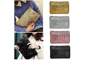 Storage Bags Fashion women handbag bolsos Clutch Bag messenger bag bolsas femininas Dazzling Sequins Glitter Handbag Evening Party Bag 100pc