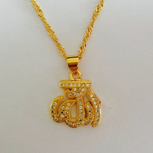 Wholesale Brand New Gift Classic Crown Pendant Necklace k dubai Gold Plated Fashion Women Crystal Wedding Party Bridal Jewelry