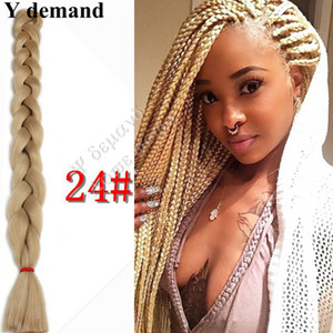 Blond kanekalon hair extension braid 165G 82inches xpression Ultra Braid super Jumbo Braids Synthetic braid hair 9pcs lots available