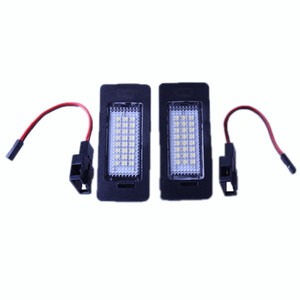 Wholesale led license plate light audi a4 resale online - PAIR FREE ERROR LED LICENSE PLATE LIGHT FOR AUDI A4 B8 A5 S5 TT Q5 PASSAT R36