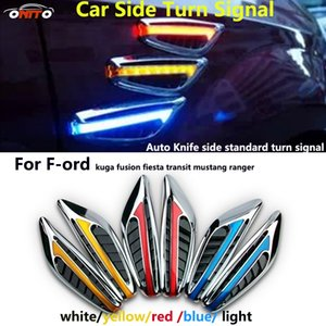 Wholesale 2PCS v car emblem car side turn signal light for kuga fusion fiesta transit mustang ranger auto LED caution light guard lamp