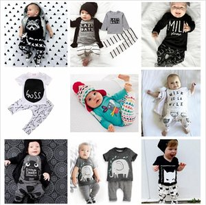 Wholesale Kids Designer Clothes Suits T Shirts+Pants Baby Tops+Trousers Summer Ins Outfits Fashion Shirts+Harem Pants Ins Baby Romper 20 Color A880 30