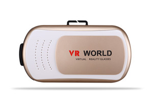 Wholesale Universal VR World Virtual Reality D Glasses Game Movie D Glass For iPhone Android Mobile Phone Cinema Color for Choosin