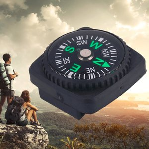 Portable 20mm Mini Size Square Shape Compass Leather Type For Paracord Bracelet Outdoor Hiking Camping Survival tools