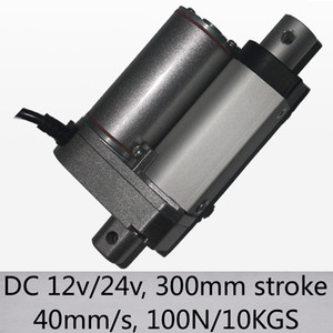"40mm s high speed 100n 10kgs load linear drivers 12"" 300mm stroke dc 12v and 24v new arrivals"