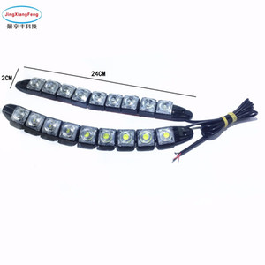 Wholesale 2pcs Strip shape COB Bendable led Daytime Running light Waterproof COB Day Lights flexible LED Car DRL
