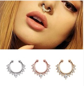 Free Shipping Medical Nostril Nose Ring Body Piercing Jewelry,Fashion Stainless Steel 3 Color Nose Stud Nail