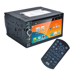 Wholesale 2Din quot HD Android Capacitive Touch Screen Quad Core Car DVD Player GPS Navigation Bluetooth WIFI SD USB FM AM