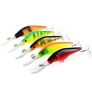 Wholesale 9cm fishing lure minnow for sale - Group buy New Shallow Diving Minnow Fishing baitcasting Hooks cm g D Eyes Plastic Artificial lures for sea bass fishing