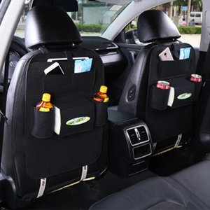 Wholesale Auto Car Back Seat Storage Bag Multi Pocket Organizer Trash Holder Storage Bags Car Hanging Storage Stroller Accessories YFA147