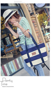 2017 Fashion canvas bag women's shoulder bag shopping bags simple school student zipped bag